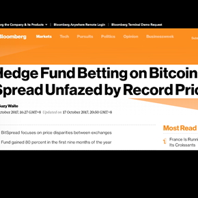 Bloomberg interviews BitSpread: Breaking away from the mould
